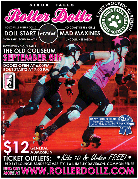 Sept 8th Roller Dollz vs No Coast